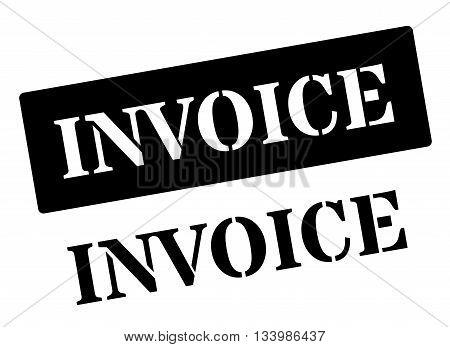 Invoice Black Rubber Stamp On White