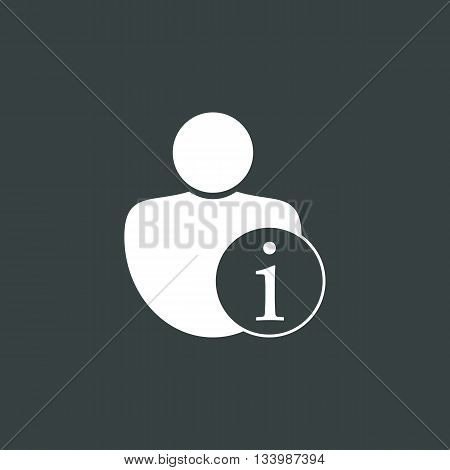 User Info Icon In Vector Format. Premium Quality User Info Symbol. Web Graphic User Info Sign On Dar