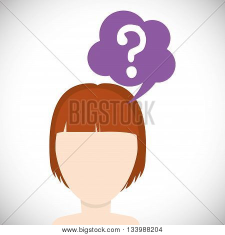 Think concept with icon design, vector illustration, person avatar