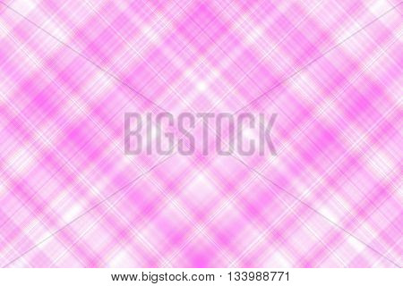 Pink and white checkered illustration with diagonal lines