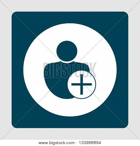 User Add Icon In Vector Format. Premium Quality User Add Symbol. Web Graphic User Add Sign On Blue B