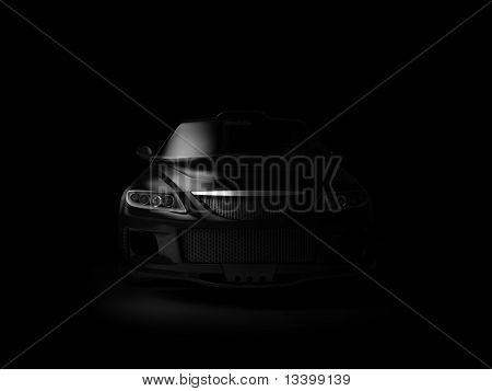 Sport car in dark