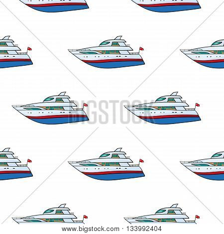 vector seamless pattern. Hand drawn water transport. kids toy yacht