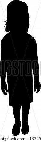 a child body black color silhouette vector