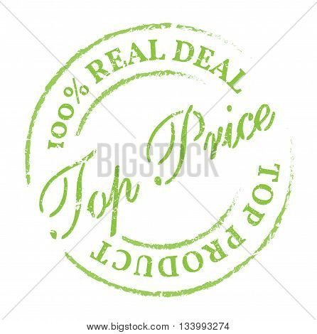 Green Top Price Stamp