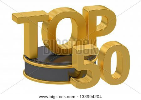 Top 50 3D rendering isolated on white background