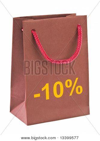 Shopping bag 10 percent