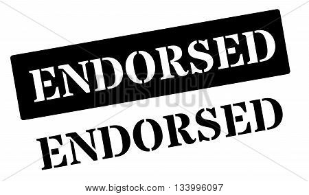 Endorsed Black Rubber Stamp On White