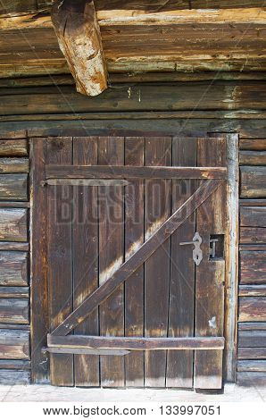 Old Wooden Outhouse Simple Door