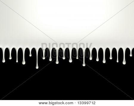 Glossy milk splash