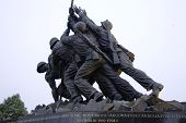 picture of iwo  - horizontal view of the marine memorial in Washington d - JPG