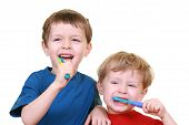 pic of 6 year old  - five and three years old boy with tooth - JPG