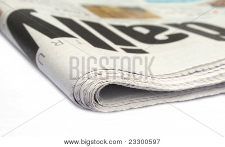 Close up of a daily newspaper