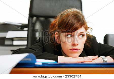 Dissatisfied Business Lady