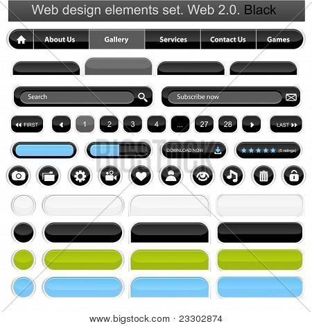 Web Design Elements Set White