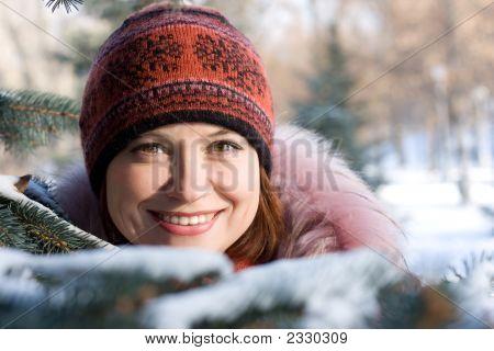 Invierno Retrato de niña