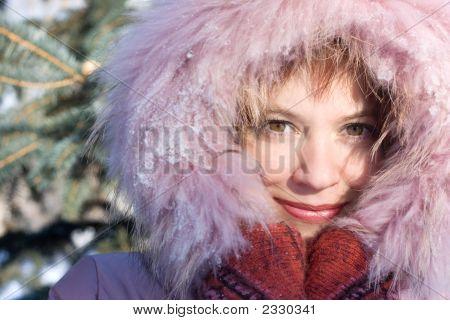 Winter-Porträt von Mädchen