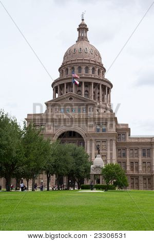AUSTIN, TX - AUG 13: The Texas state capitol building in Austin, Texas on August 13, 2011. The capitol has 360,000 square feet of floor space, more than any other state capitol building.