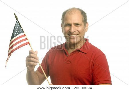 Patriotic American Waving Flag