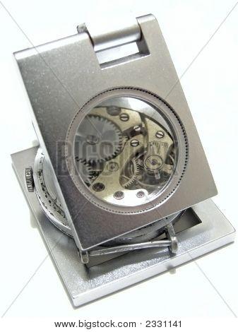 Clockwork Under Magnifier
