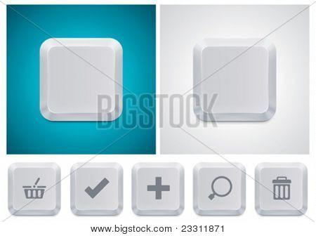 Vector computer keyboard button square XXL icon
