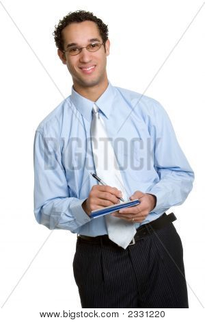 Businessman Writing Check