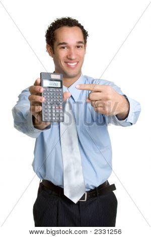 Businessman With Calculator
