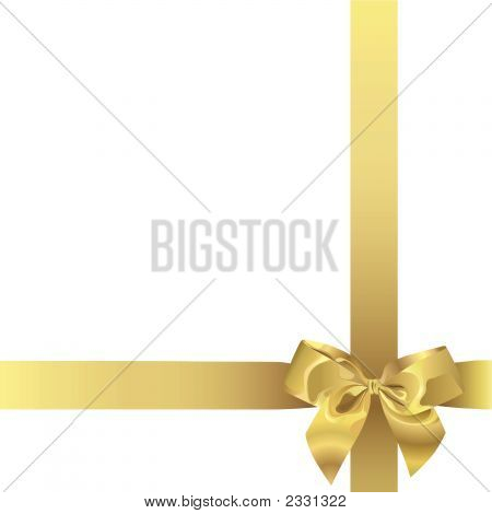 Golden Ribbon (Vector Or Xxl Jpeg Image)