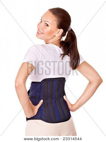 Trauma of back. Lumbar braces. Isolated.