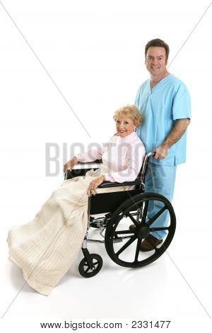 Disabled Senior & Nurse Profile