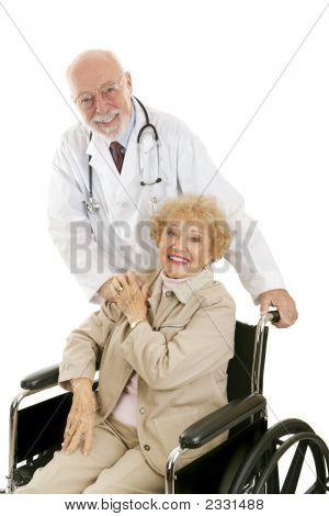 Freundlicher Arzt & Patienten
