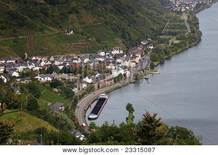 Town At The Mosel River