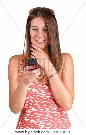Girl Looking At Phone.