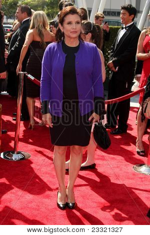 LOS ANGELES - SEP 10:  Carrie Fisher arriving at the Creative Arts Emmys 2011 at Nokia Theater  on September 10, 2011 in Los Angeles, CA