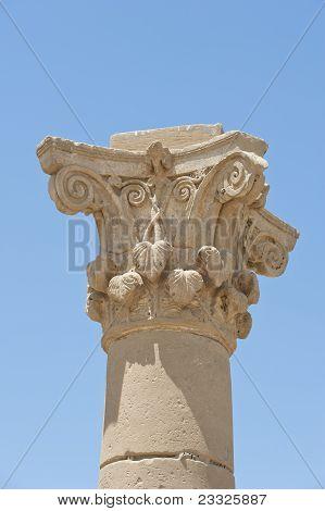 Top Of An Ancient Roman Column