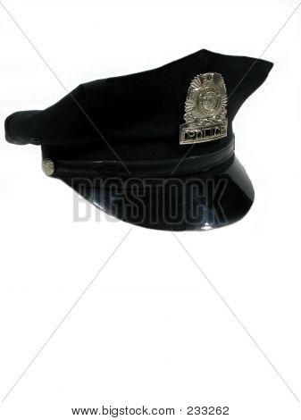 Polizei Hut rechts gedreht