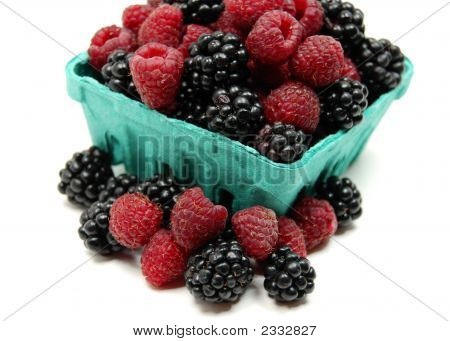 Mixed Basket Of Sweet Berries