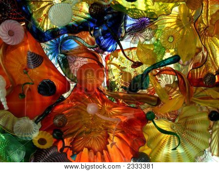 Colored Glass Abstract