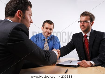 Handshake Over Signed Cotract