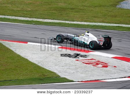 SEPANG, MALAYSIA - APRIL 8: Nico Rosberg of the Mercedes GP Petronas F1 Team takes to the tracks on practice day of the Petronas Malaysian F1 Grand Prix on April 8, 2011 in Sepang, Malaysia.