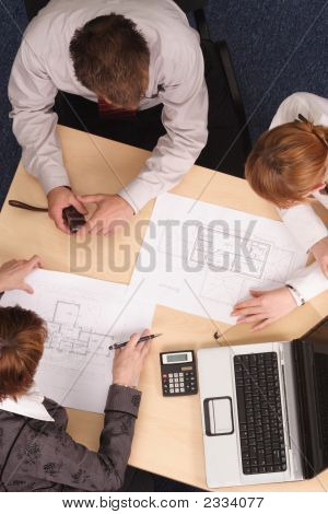 People Working With Plans