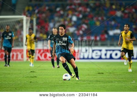 BUKIT JALIL - JULY 13: Arsenal's midfield maestro Samir Nasri weaves his magic on the soccer field July 13, 2011 in Stadium Bukit Jalil, Malaysia. English league team Arsenal is on an Asia Tour.