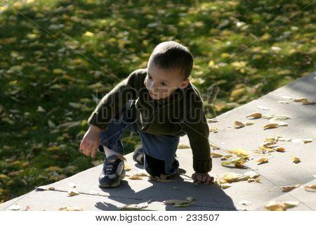 Kid Climbing Up