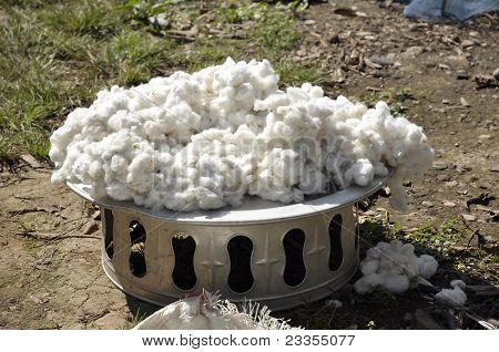 Cotton Outdoor Tray Vintage Silver