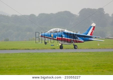 Patrouille De France Alpha Jet on Runway