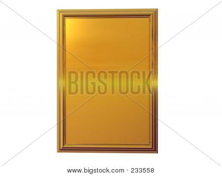 Gold-Plakette