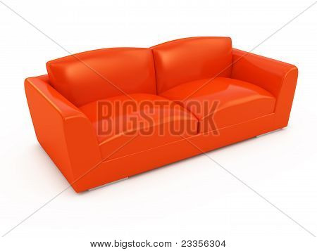 Modern Red Sofa