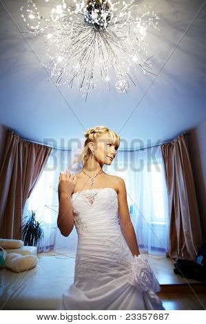 Luxury Bride In Interior Of Hotel