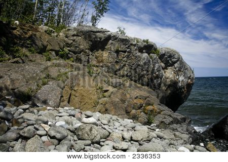 Rocky Shoreline S Of Split Rock Lighthouse