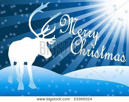 Caribou Reindeer Christmas Theme